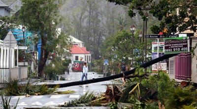 Saint-Leu, La Reunion where the cyclone caused widespread damage uprooting trees and flooding homes [AFP]