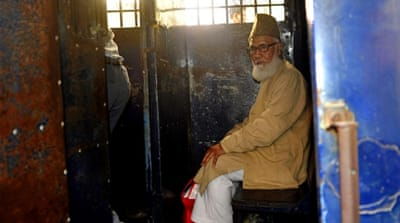Matiur Rahman Nizami's sentence has prompted fears of fresh unrest in Bangladesh [AFP]