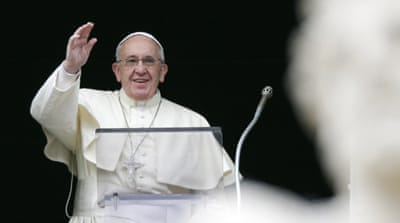 "Pope Francis has made many appeals for peace in the Middle East, calling for ""a just and lasting solution."" [Reuters]"