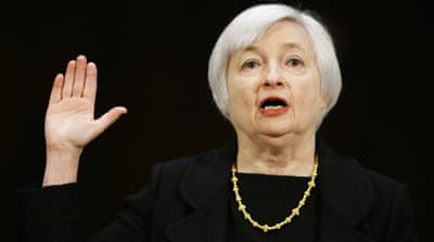 Yellen will begin her four-year term as leader of the century-old bank on February 1 [Reuters]