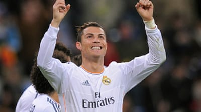 Ronaldo's double against Celta Vigo made him the fourth highest scorer in La Liga [Getty Images]