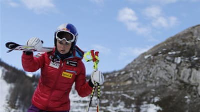 Lindsey Vonn had injured her knee last February but was confident of keeping her Olympic hopes alive [Reuters]