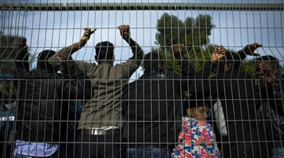 African migrants protest Israel detention law