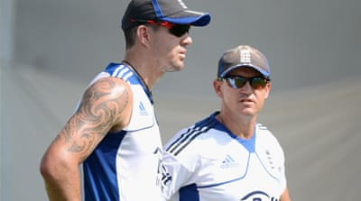 Andy Flower (R) has refused to confirm whether KEvin Pietersen will be part of the 'new era' or not [Getty Images]