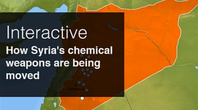 Interactive: Moving Syria's chemical weapons