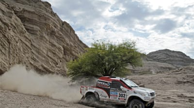 The fourth stage of the Dakar Rally lasted 352 kilometres with stage five lasting 527 kilomtres [AFP]
