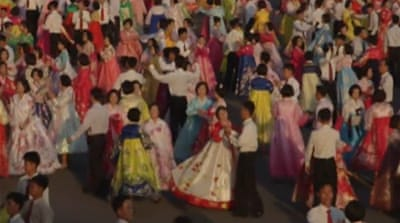 Catching a rare glimpse of N Korea festivity