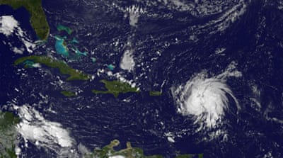 Hurricane Gonzalo is the seventh storm of the Atlantic season. AFP PHOTO/NASA/NOAA/GOES PROJECT/HANDOUT