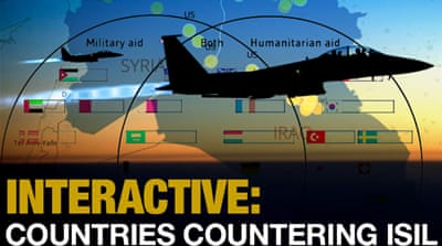Interactive: Countries countering ISIL