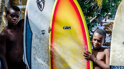 In Pictures: Surf's up in Haiti, dude