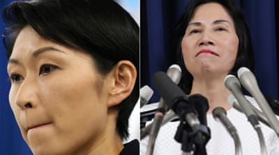 Japan's Industry Minister Yuko Obuchi and Justice Minister Midori Matsushima quit on Monday [AP]