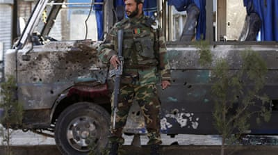 Buses carrying Afghan troops are frequently targeted by the Taliban [Reuters]