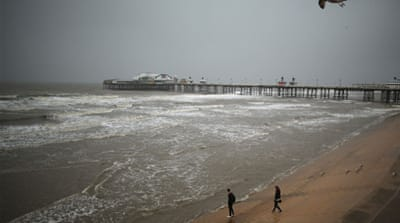 The remnants of Hurricane Gonzalo bear down on the British Isles [Getty Images]