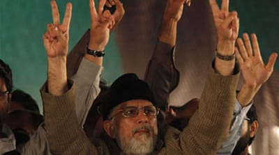 Qadri said he would now tour major cities holding sit-ins for the launch of a 'revolution of the poor' [Reuters]