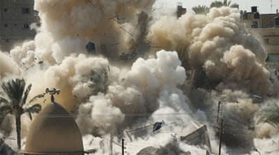 Egypt blows up houses for Sinai buffer zone