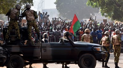 Tens of thousands of people had protested against Compaore in the capital, Ouagadougou [AFP]