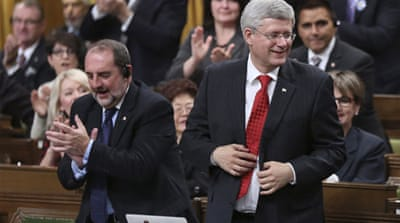 Prime Minister Stephen Harper said Canada would not deploy ground troops against the rebel group [Reuters]