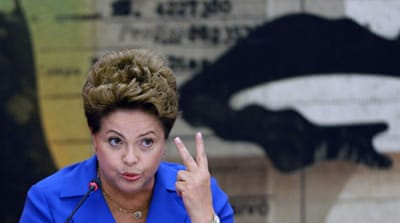 Brazil's Rousseff trailing in latest polls