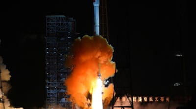 The spacecraft returned to Earth using a Soviet-designed method [File: AP]