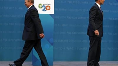 West isolates Putin over Ukraine at G20