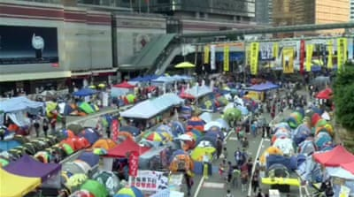 Hong Kong protesters mark 50 days of action