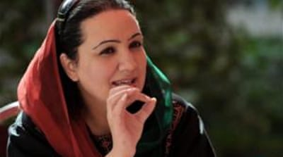 Shukria Barakzai, 42, is a high-profile advocate of women's rights and media freedom [AFP]