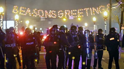 In Pictures: Protests after Ferguson verdict