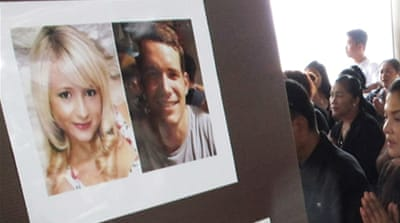 The bodies of Witheridge, 23, and Miller, 24, were discovered on a stretch of Koh Tao beach in September [EPA]