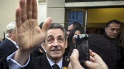 Former French President Nicolas Sarkozy took the poll by a disappointing 65 percent [EPA]