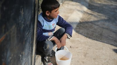Syria's bucket children desperate for aid
