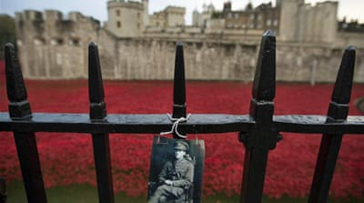 UK displays sea of poppies to honour war dead