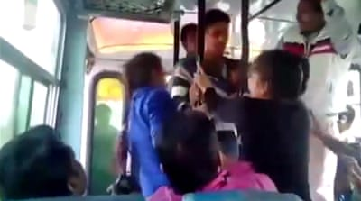 Three arrested in India for harassment on bus