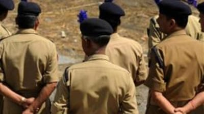 The victims were all with the Central Reserve Police Force (CRPF), a paramilitary unit [File: EPA]