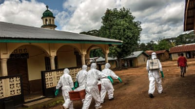 Sierra Leone has overtaken Liberia as the nation most affected by Ebola [AP]