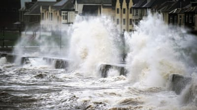 In Pictures: Stormy 'weather bomb' hits UK