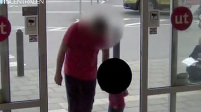The man admitted to the theft after being confronted with surveillance footage [CCTV/Aftonbladet]