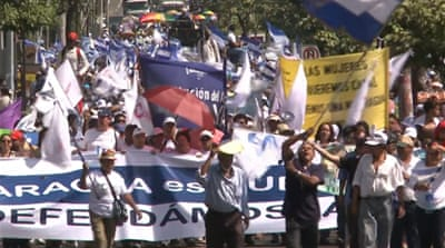 Nicaraguans protest against canal plan