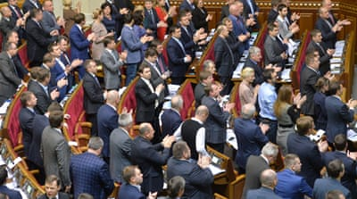 Ukraine votes to scrap non-aligned status