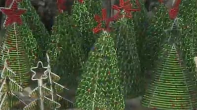 Zimbabweans create Christmas art out of scrap