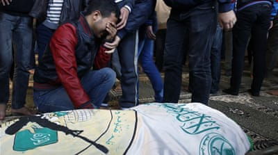 The funeral for Tayseer Asmairi was held in Khan Younis hours after he was killed [Reuters]
