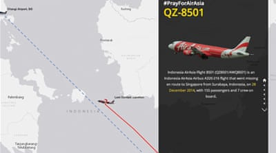 Mapping the search for AirAsia Flight 8501