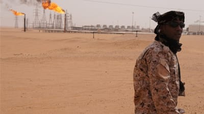 Oil production at el-Sharara was booming last year; today, the plant is not functioning [Rebecca Murray/Al Jazeera]
