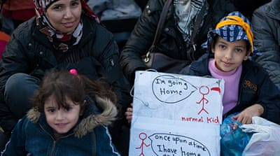 In Pictures: Syrian hunger-strikers in Greece