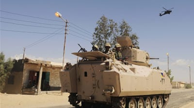 Attacks on security forces have spread to the capital and elsewhere in the Nile Delta [AP]