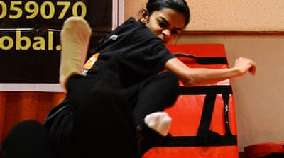 Mumbai women master martial arts for safety