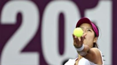 Li Na of China was a firm favourite to lift the trophy, especially after Serena and Azarenka's withdrawal [Reuters]