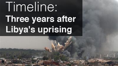 Timeline: Three years after Libya's uprising