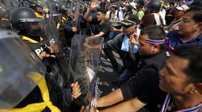 Thai protests end in violence and deaths