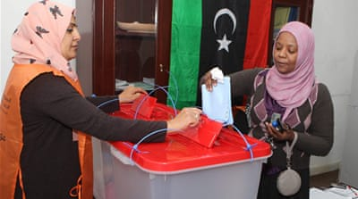 Low-key vote for Libya's constitution panel