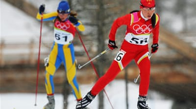 Marina Lisogor (left) finished 58th in both sprint qualification and the 10km classic at Sochi [GALLO/GETTY]